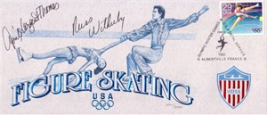 April Sargent-Thomas & Russ Witherby autographed 1992 Olympic Figure Skating cachet