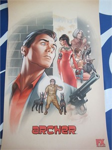 Archer 2016 Comic-Con SDCC 11x17 mini Fox promo poster