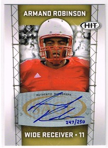 Armand Robinson certified autograph 2011 Sage HIT card #/250