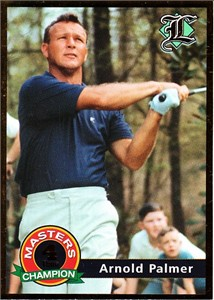 Arnold Palmer 2001 Legends 4 Time Masters Champion golf card