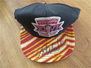 Art Monk autographed Washington Redskins Super Bowl 26 Champions cap or hat