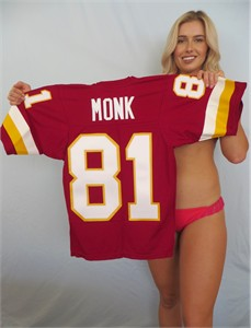 Art Monk Washington Redskins authentic Sand-Knit stitched throwback jersey