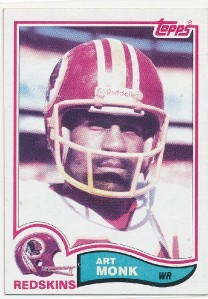 Art Monk Washington Redskins 1982 Topps card #515 NrMt