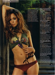 Autumn Reeser autographed sexy Stuff magazine full page photo