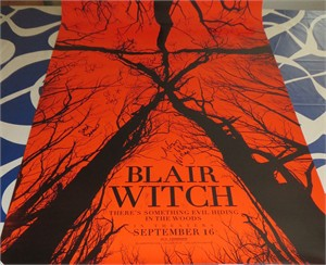 Blair Witch cast & filmmakers autographed full size 2016 movie poster (Wes Robinson)