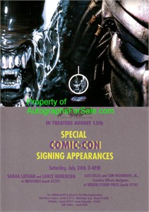 AVP: Alien vs. Predator movie 2004 Comic-Con 4x6 promo card