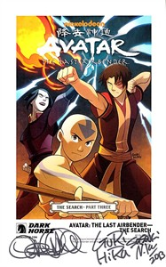 Avatar The Last Airbender autographed The Search Dark Horse 2013 Comic-Con artwork promo card