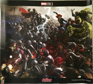 Avengers Age of Ultron Marvel Studios 10 Years 2018 Comic-Con exclusive 24x27 poster