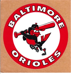 Baltimore Orioles 1980s logo decal or sticker