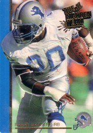 Barry Sanders Detroit Lions 1992 Action Packed 1991 All-Madden Team card