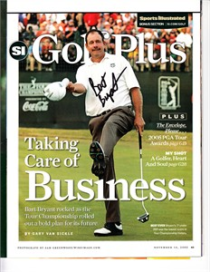 Bart Bryant autographed 2005 Tour Championship Sports Illustrated magazine photo