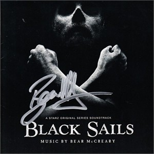 Bear McCreary autographed Black Sails soundtrack CD booklet with disc