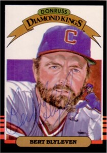 Bert Blyleven autographed Cleveland Indians 1985 Donruss Diamond King card