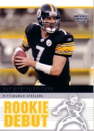 Ben Roethlisberger Pittsburgh Steelers 2005 Upper Deck Rookie Debut card