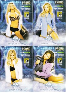 Bench Warmer Dreamgirls 2015 Comic-Con exclusive promo card partial set (4 different)