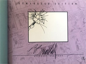 Berke Breathed autographed Bloom County Complete Library Volume 5 book (MILO remarqued) #77/100