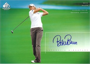 Beth Bauer certified autograph 2004 SP Signature 8x10 photo card