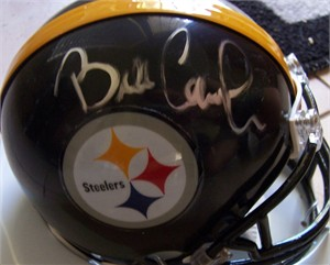 Bill Cowher autographed Pittsburgh Steelers mini helmet