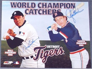 Bill Freehan & Lance Parrish autographed Detroit Tigers World Champion Catchers 11x14 photo