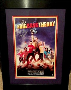 Big Bang Theory cast autographed 2012 Comic-Con poster matted and framed (Kaley Cuoco Johnny Galecki)