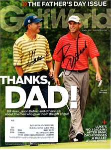 Bill Haas & Jay Haas autographed 2012 Golf World magazine