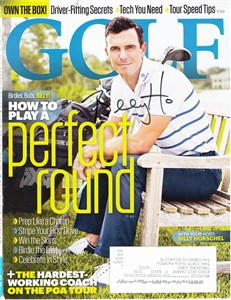 Billy Horschel autographed 2018 Golf Magazine cover