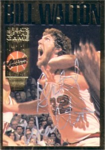 Bill Walton certified autograph 1994 Action Packed Hall of Fame card