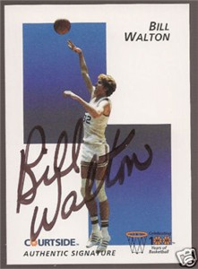 Bill Walton certified autograph UCLA Bruins 1992 Courtside Flashback card