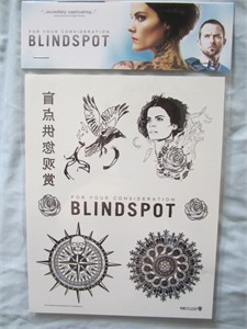 Blindspot set of 7 temporary 2016 Comic-Con promo tattoos
