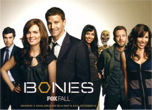 Bones 2009 Comic-Con Fox 5x7 promo photo card (David Boreanaz & Emily Deschanel)