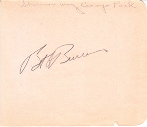 Bob Burns autographed autograph album or book page (JSA)