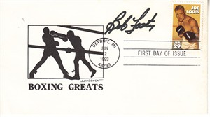 Bob Foster autographed Boxing Greats cachet 1993 Joe Louis First Day Cover
