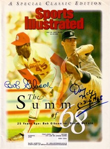 Bob Gibson & Denny McLain autographed 1993 Sports Illustrated