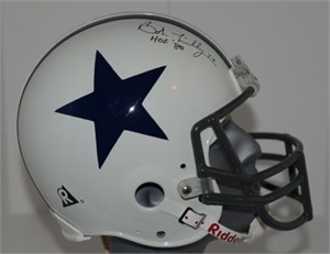 Bob Lilly autographed Dallas Cowboys authentic full size throwback helmet