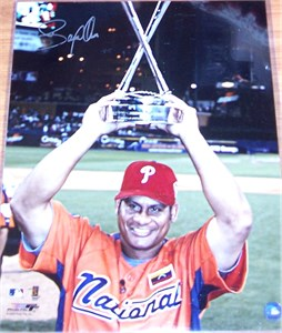 Bobby Abreu autographed Philadelphia Phillies 2005 Home Run Derby 16x20 poster size photo