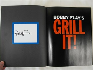 Bobby Flay autographed Boy Meets Grill first edition hardcover cookbook