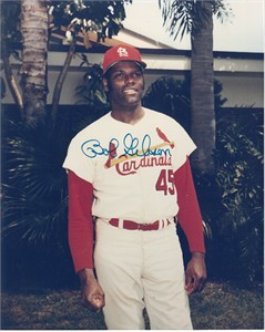 Bob Gibson autographed St. Louis Cardinals 8x10 photo