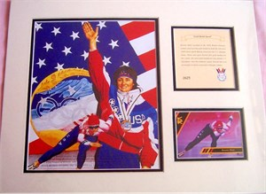 Bonnie Blair Gold Medal Speed 11x14 lithograph matted