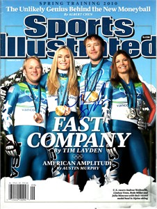 Bode Miller autographed 2010 Winter Olympics Sports Illustrated