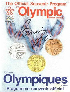 Bonnie Blair autographed 1988 Calgary Winter Olympics program