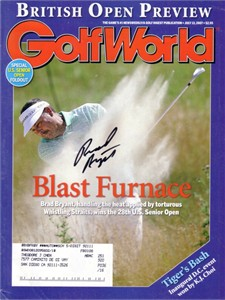Brad Bryant autographed 2007 US Senior Open Golf World magazine cover