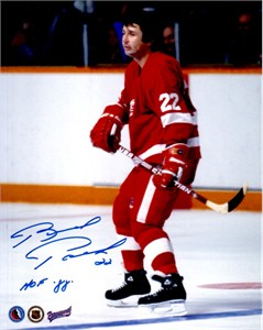 Brad Park autographed Detroit Red Wings 8x10 photo inscribed HOF 88