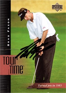 Brad Faxon autographed 2001 Upper Deck golf card