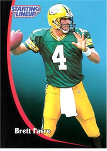 Brett Favre 1998 Kenner Starting Lineup football card