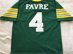 Brett Favre Green Bay Packers authentic Logo Athletic green replica jersey