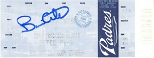 Brian Giles autographed first triple at Petco Park 2004 San Diego Padres ticket (MLB authenticated)