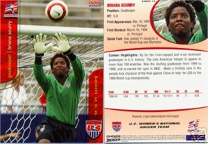 Briana Scurry 2004 U.S. Women's National Team card
