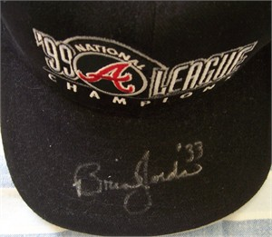 Brian Jordan autographed Atlanta Braves 1999 National League Champions cap