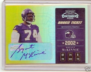 Bryant McKinnie Minnesota Vikings certified autograph 2002 Playoff card