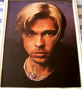 Brad Pitt autographed 11x14 portrait photo framed